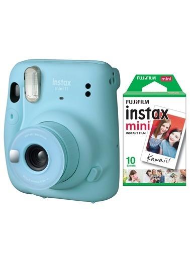 Fujifilm instax mini 11 Mavi Fotoğraf Makinesi 10lu Film Mavi